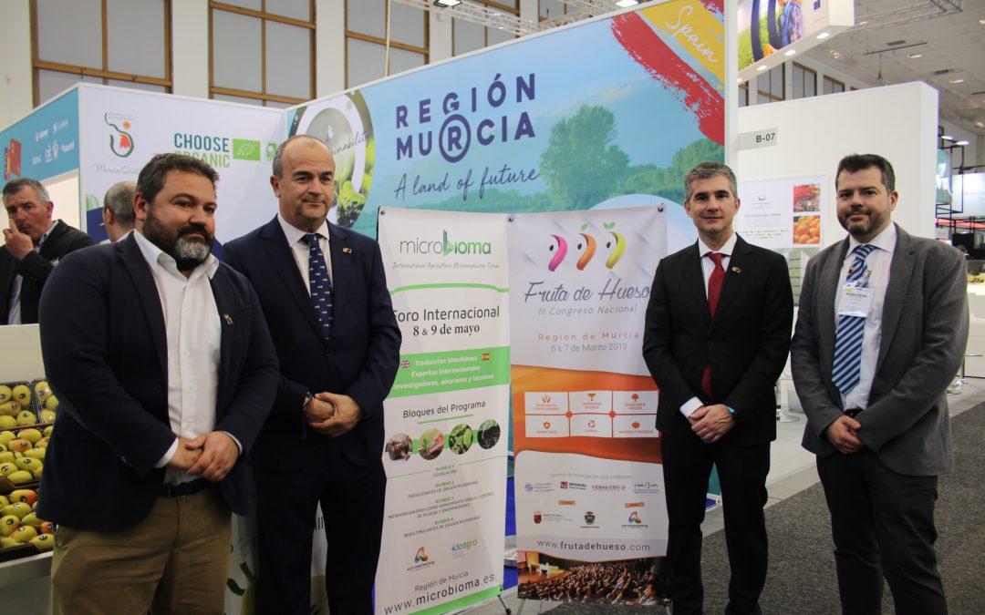 Murcia será el epicentro del sector agrícola con el III Congreso de Fruta de Hueso y el I Foro Internacional de Microorganismos