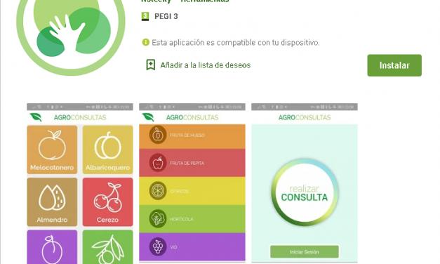 Ya se puede descargar la app para comunicar incidencias en los cultivos